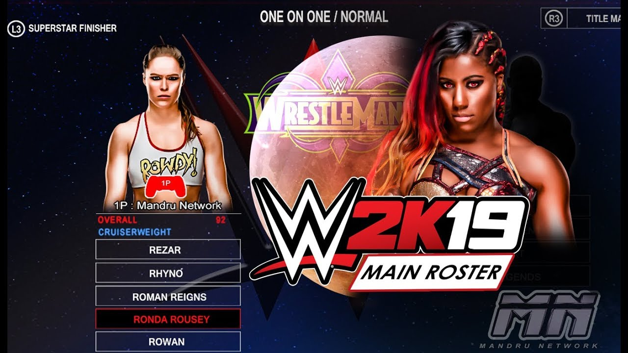 Wwe 2k19 Roster