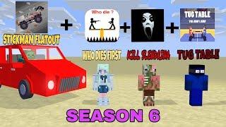 Monster School : SEASON 6 ALL EPISODE- MINECRAFT ANIMATION