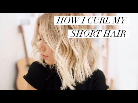 HOW I CURL MY SHORT HAIR - Loose Waves