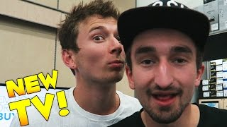 SHOPPING FOR A NEW TV w/ JeromeASF & BajanCanadian