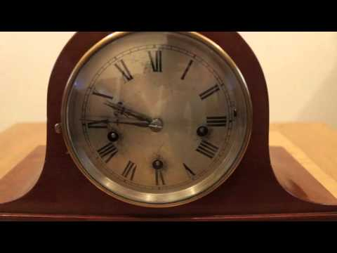 GERMAN SMALL NAPOLEON HAT WESTMINSTER MANTLE CLOCK 1920S