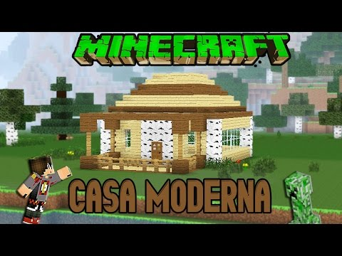Minecraft casa moderna de madera facil tutorial 1 8 1 for Casas minecraft planos
