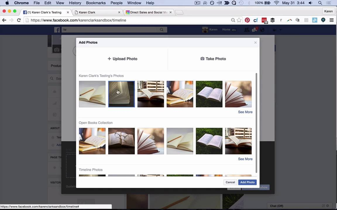 how to upload multiple pictures to facebook