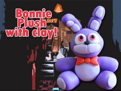 Bonnie Plush Version Five Nights at Freddy's Tutorial Polymer clay / Porcelana fria / Cold porcelain