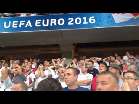 """England Fans Sing """"You're Not Fit To Wear The Shirt"""" Euro 2016 - Iceland Defeat In Nice"""
