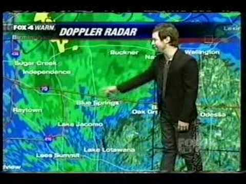 American Idol's David Cook trys hand at Weather forcasting