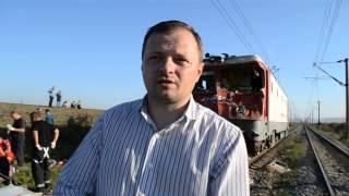 Prefectul Bacaului la accidentul feroviar din Nicolae Balcescu