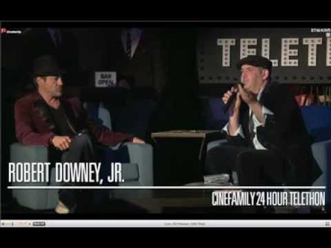 Robert Downey Jr. on the Telethon 2012 'The Cinefamily'. Part 1