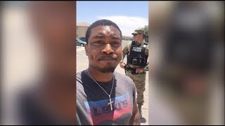 DETAINED AND RACIALLY PROFILED by MILITARY POLICE FOR NO REASON