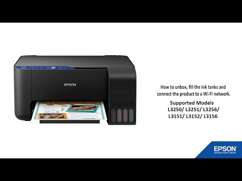 Unpacking and Setting Up a Epson L3150/L3151 Printer