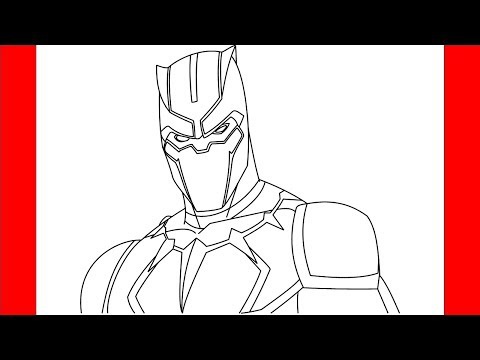 How To Draw Black Panther From Avengers | Step By Step Drawing
