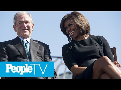 Michelle Obama And George W. Bushs Adorable Friendship Over The Years | PeopleTV