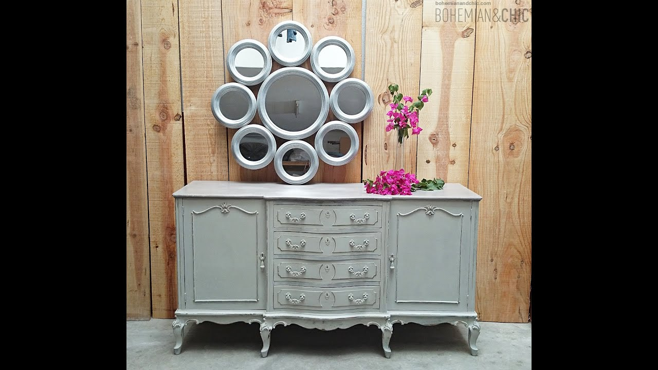 C mo actualizar un aparador estilo luis xv en tonos pastel - Modernizar muebles antiguos ...
