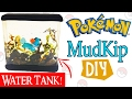DIY MINIATURE POKEMON MUDKIP How to make polymer clay & Resin tutorial resina craft NerdEcrafter