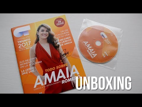 | UNBOXING CD + REVISTA AMAIA ROMERO: SUS CANCIONES | OT 2017