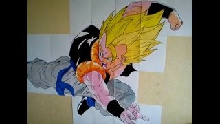 [DBZ] HOW TO DRAW GOGETA 2/2 DRAGON BALL Z ゴジータ (speed drawing)