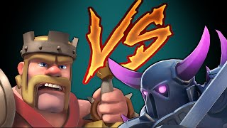 Clash Of Clans PEKKA vs KING (DUEL to the DEATH)