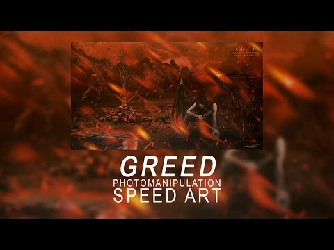 GREED | Photoshop Speed Art
