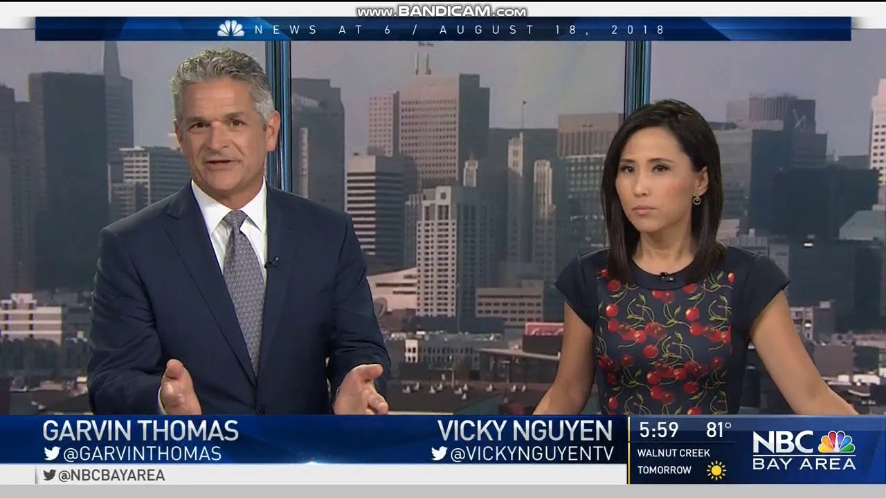 KNTV NBC Bay Area News at 6pm Saturday open August 18, 2018