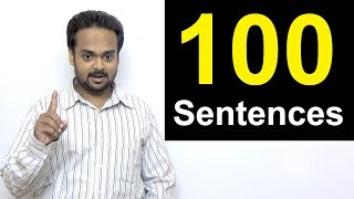 100 English Sentences You Can Use in Conversation | Spoken English for Beginners | Short Sentences