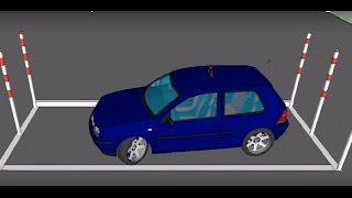 """""""Automašīnas novietošanas paralēli brauktuvei"""" - Autoskola """"Braukšanas Akadēmija"""" www.b-akademija.lv"""