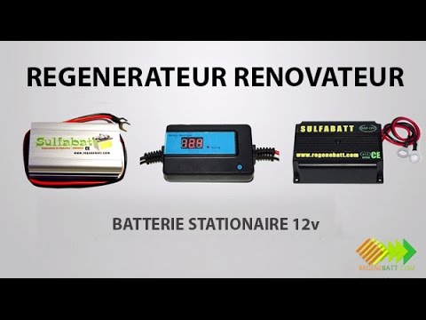 r g n rateur renovateur batterie stationnaire 12v youtube. Black Bedroom Furniture Sets. Home Design Ideas