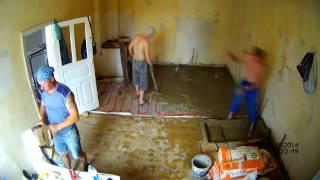 Водяной теплый пол  Заливаю стяжку!!!(, 2014-06-10T21:52:52.000Z)