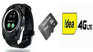 How to Insert  sd card  and sim card in smart watch V8
