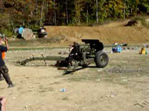 76mm Anti Tank Gun Cannon Knob Creek October 2008 - YouTube