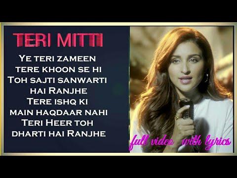 TERI MITTI FEMALE VERSION LYRICS   Arko feat  Parineeti Chopra   Akshay  Kumar   Manoj Muntashir