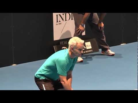 John McEnroe vs Mats Wilander at Kings of Tennis, Stockholm - Sweden March 2013-Great Match