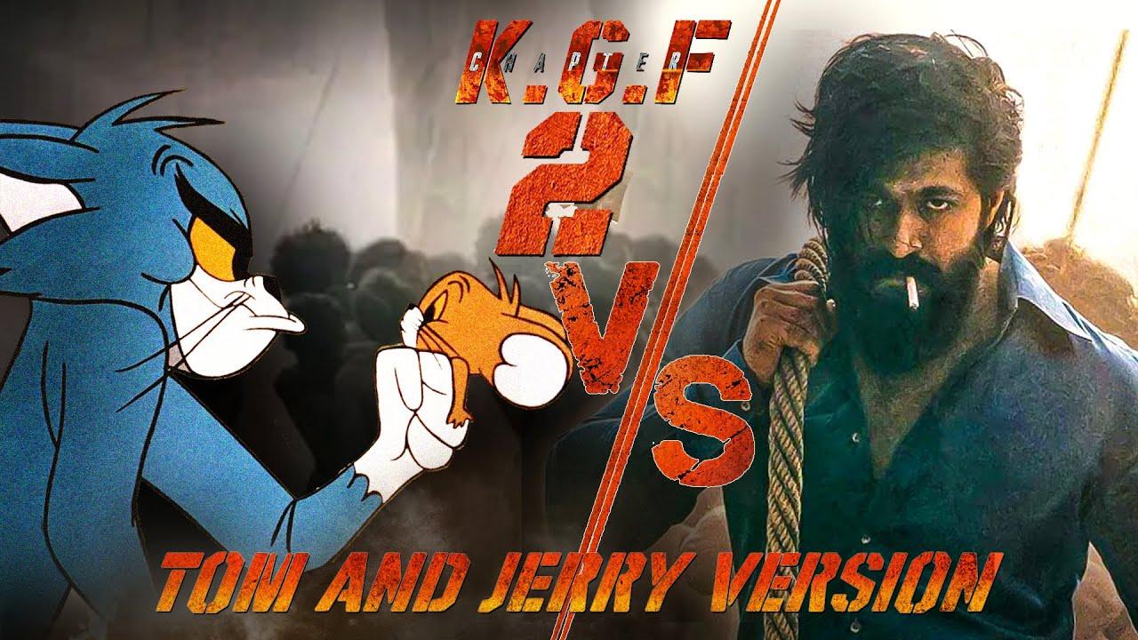 KGF Chapter2 TEASER Spoof   Tom & Jerry Version   Yash x Tom   KGF 2 Spoof!