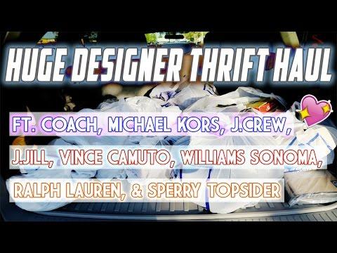 DESIGNER THRIFT HAUL FT. COACH, MICHAEL KORS, J.CREW, AND RALPH LAUREN
