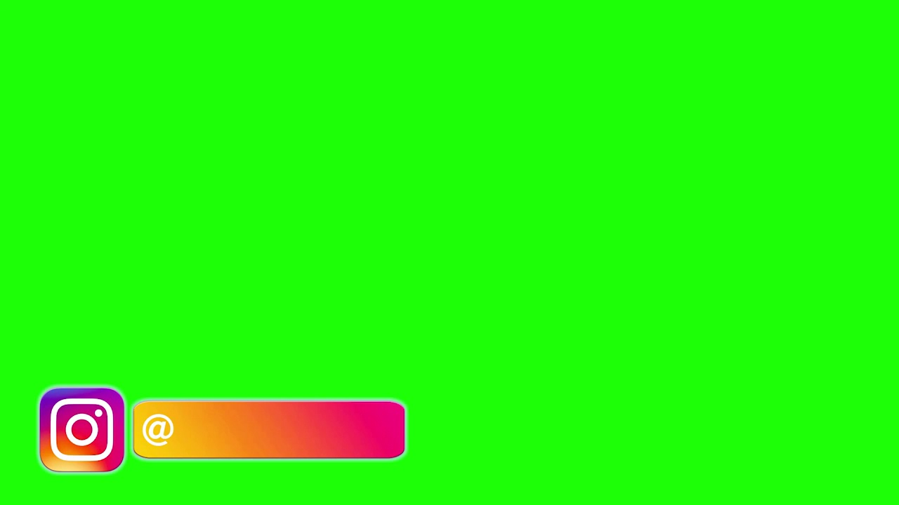 Instagram Logo Green Screen Animation mp4