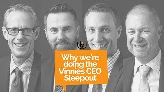 Why we're doing the Vinnies CEO Sleepout - Y Partners Adelaide 2019