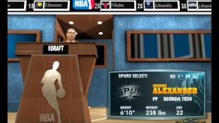 My Cleveland Association: 2013 Draft (NBA 2k13)