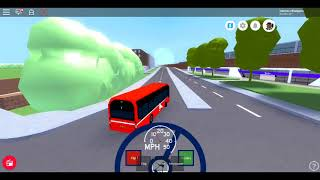 Roblox New MTG Volvo 7900E RED ARROW MTG CITYBUS Test Drive from New Boydon Bus Depot to Cross Road
