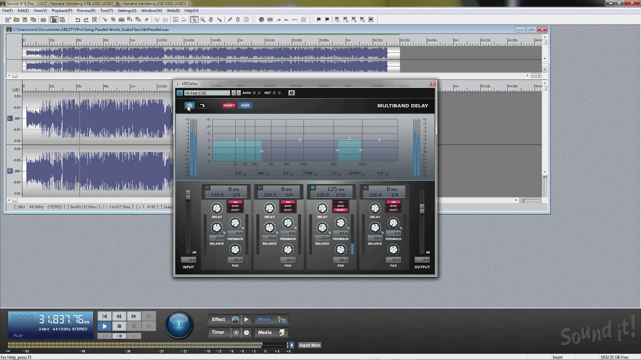 Audio Mastering Software Sound it! 8 Pro Tutorial 5 (Processing Effects &  More about Editing)