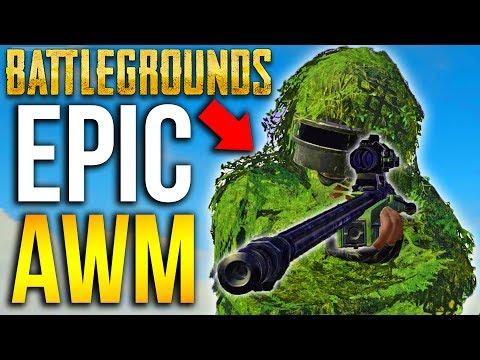 EPIC AWM SNIPER PLAYERUNKNOWN'S BATTLEGROUNDS Sniping PUBG