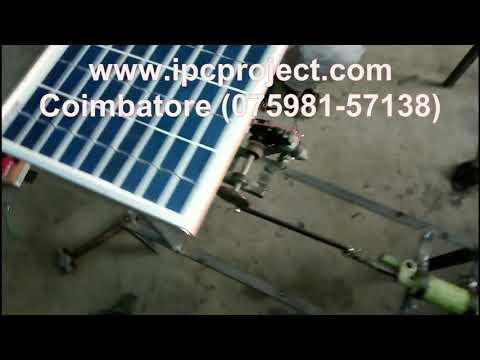 Solar powered reciprocating water pumping system / solar water pumping system project pdf