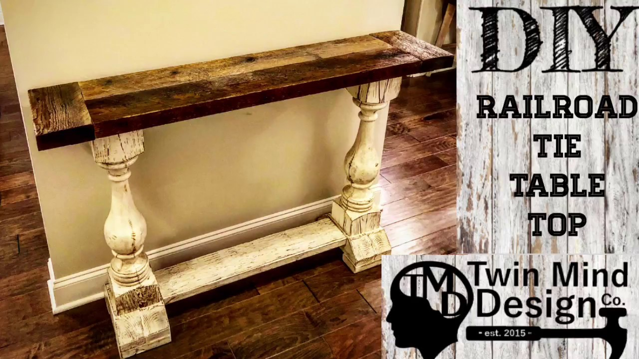 DIY Railroad Tie Furniture