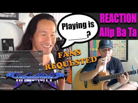 DragonForce Reaction Herman Li Reacts to Alip Ba Ta - My Heart Will Go On Fingerstyle Cover