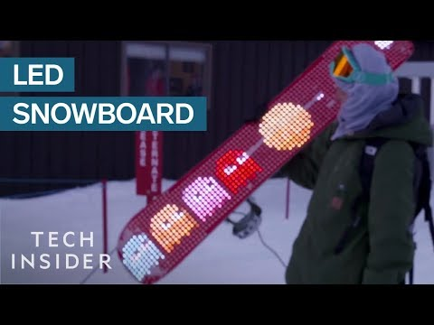 LED Snowboard Lights Up The Slopes
