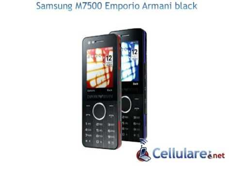 Samsung M7500 Emporio Armani black