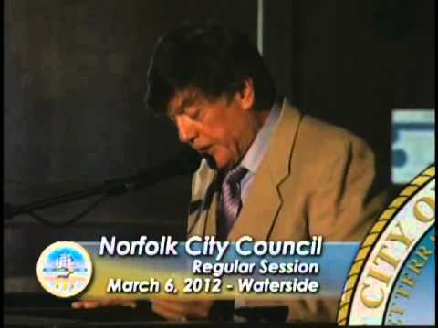 Regular 03/06/12 Session pt. 1 - Norfolk City Council joint session with Parks and Rec Comm.