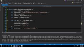 Demo05: Leer un JSON y mostrarlo en el Cliente Web usando Javascript