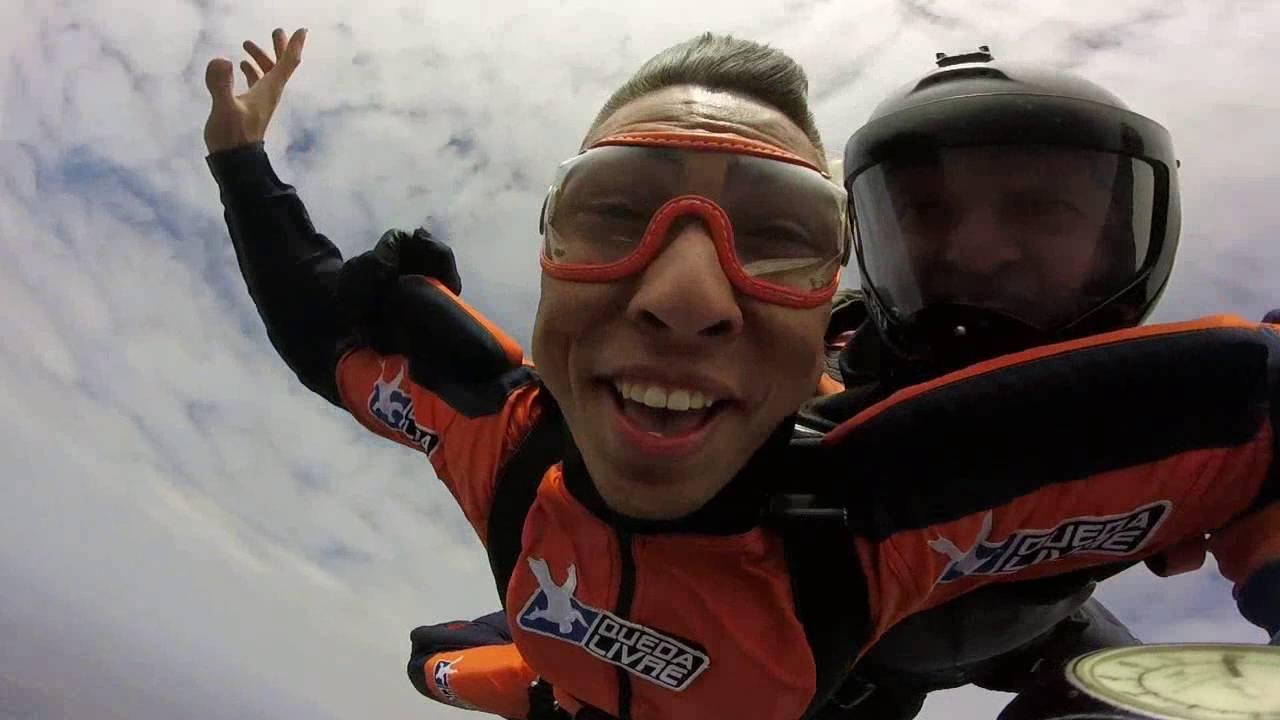 Salto de Paraqueda do Wilquias na Queda Livre Paraquedismo 29 07 2016