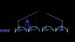 Lawrence Drive Lights 2018 Halloween Light Display - Ghostbusters