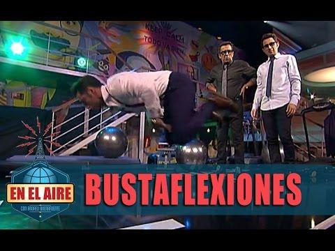 David Bustamante, Buenafuente y Berto se marcan unas flexiones - En el aire