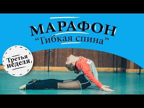 МАРАФОН. 3 Неделя. КАК РАЗВИТЬ ГИБКОСТЬ СПИНЫ. Упражнения на гибкую спину. Гимнастика. Растяжка